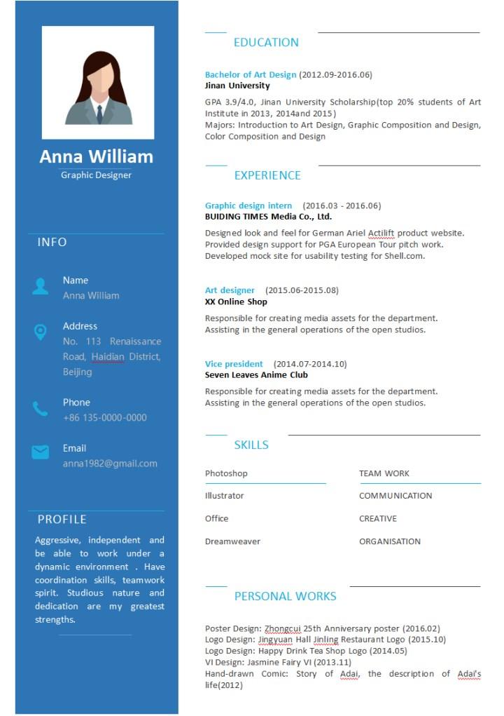 Fresh Blue Resume for Graduates of Design.docx