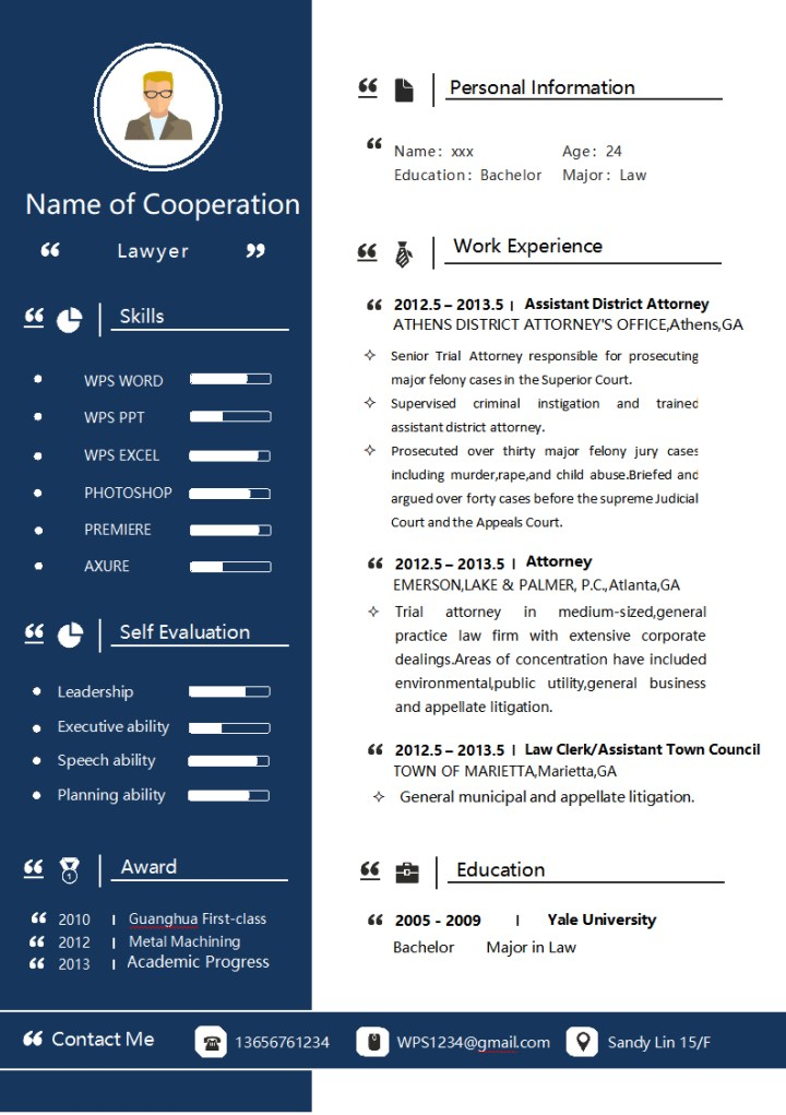 Business Style Resume for Lawyers.docx
