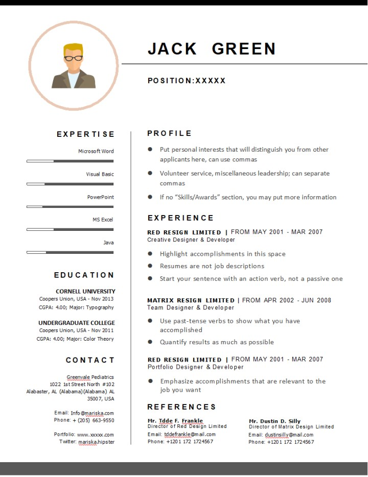 general resume tips docx - writer templates
