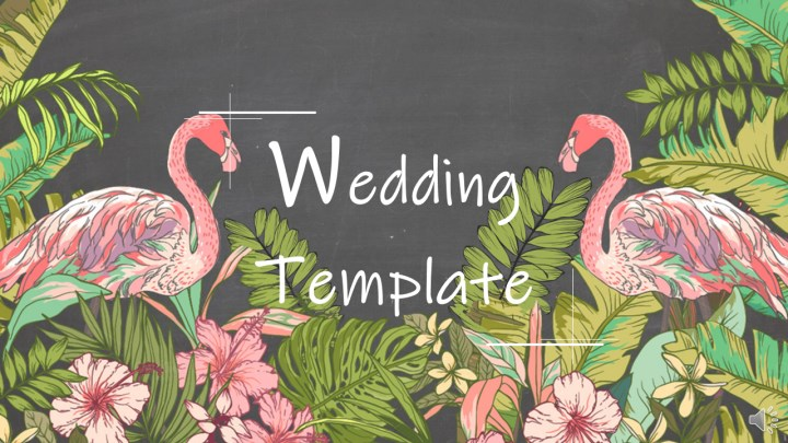 Flamingo and Blackboard Style Wedding Template.pptx