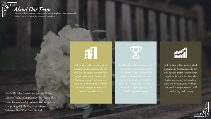 Stylish Flowers Wedding Template.pptx