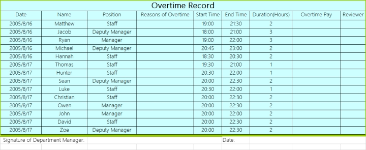 Overtime Record.xls