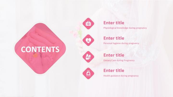 Pink Wedding Dress Maternal and Child PPT pptx - Presentation