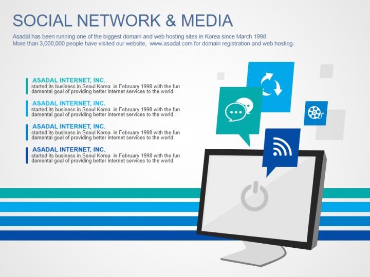 Social Network & Media ppt - Presentation Templates - WPS Template