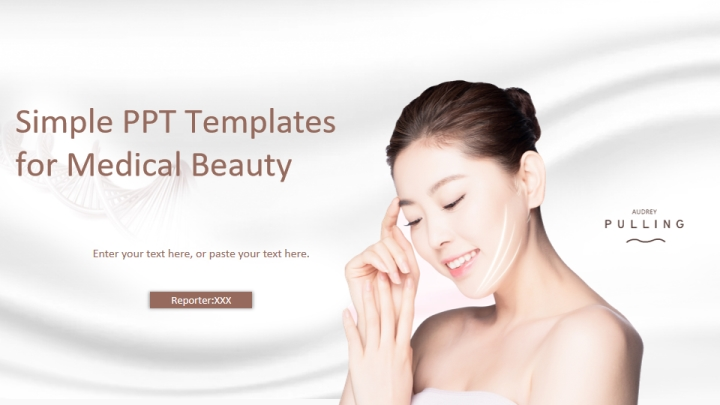 Simple PPT Template for Medical Beauty pptx - Presentation Templates
