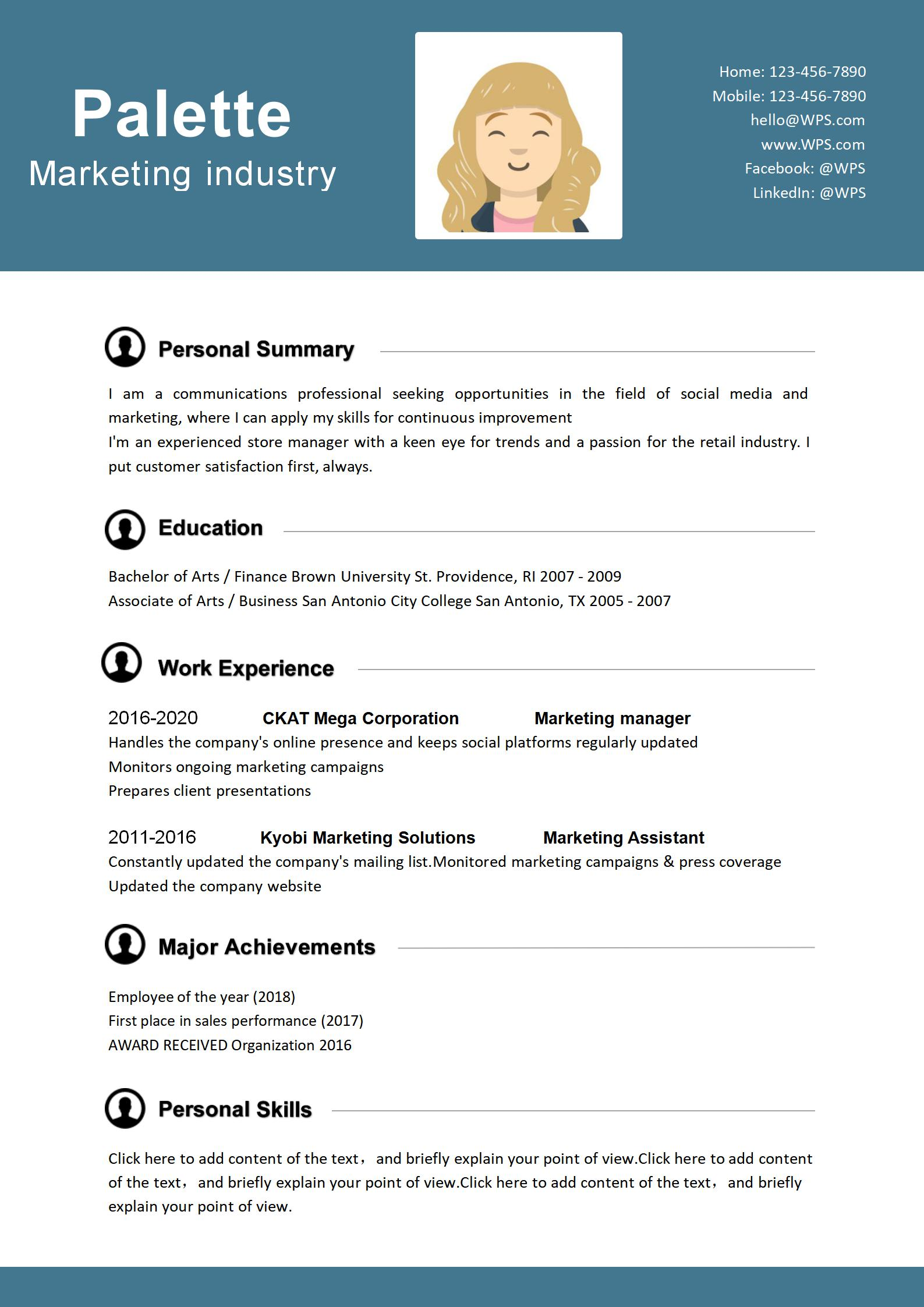 2020 Resume Trends.Wps Template Free Download Writer Presentation