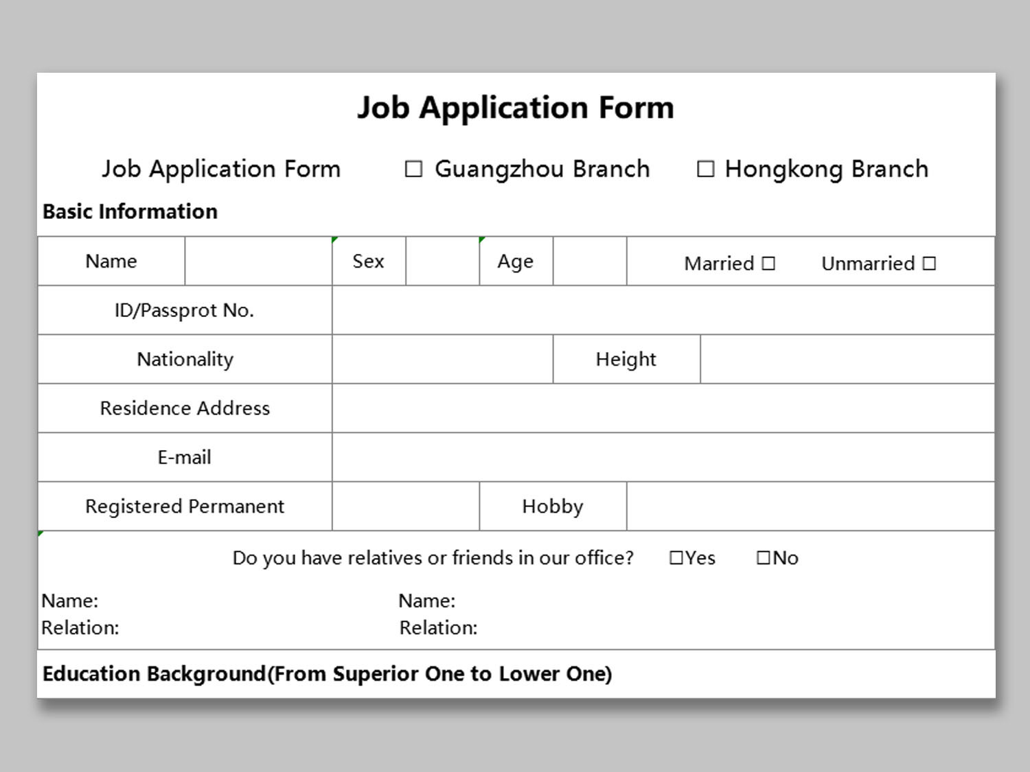 Employee Application Form Template Free from d4z1onkegyrs5.cloudfront.net